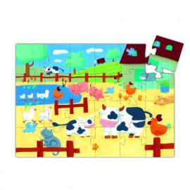 Puzzle mucca djeco 24 pezzi