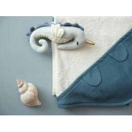 Telo bagno con cappuccio Fabelab Blue Spruce