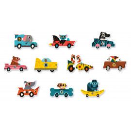 Puzzle duo racing cars djeco