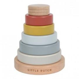 Impilabile anelli in legno little dutch legno pure & nature
