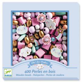 Perle in legno djeco arcobaleno 450 pz