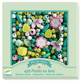 Perle in legno fiori 450 pz djeco
