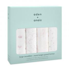 Mussole di cotone  Aden&anais 4 pezzi 120x120 cm lovely reverie