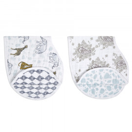 Burpy bib aden & anais  2 pack jungle tropical
