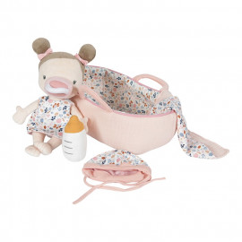 bambola con cesta ed accessori Rosa little dutch