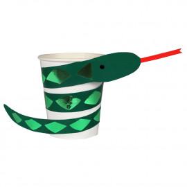 Bicchieri merimeri serpente go wild 8 pezzi