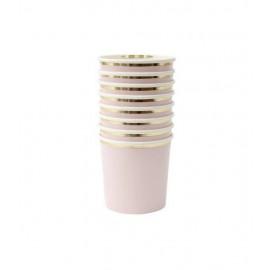 Bicchieri rosa 8 pezzi merimeri