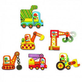 Puzzle djeco duo veicoli