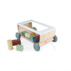 Carrello in legno con cubi janod  sweet cocoon