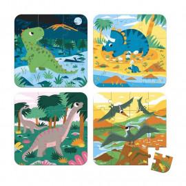 Puzzle progressivi janod dinosauri