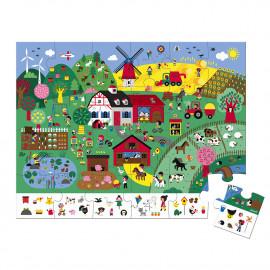 Puzzle di osservazione janod la fattoria