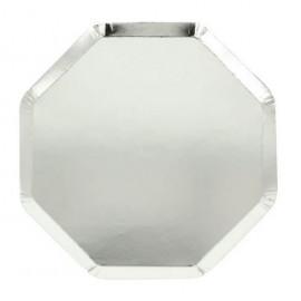 Piatti silver merimeri 8 pezzi