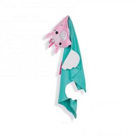 Prodotti bagnetto – Asciugamano con cappuccio e mano Unicorno Zoocchini