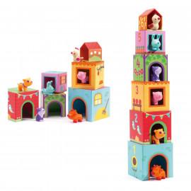 Set cubi impilabili Topanifarm djeco