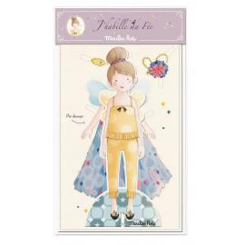 Bambina da vestire in cartoncino