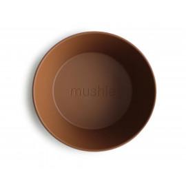Set 2 ciotole round caramel Mushie