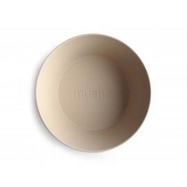 Set 2 ciotole round vanilla mushie
