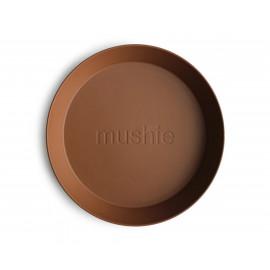 Set 2 piatti round caramel mushie