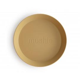 Set 2 piatti round mustard mushie