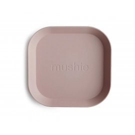 Set 2 piatti square blush mushie