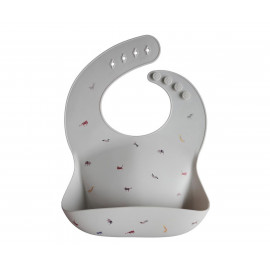 Bavaglio silicone mushie safary light grey