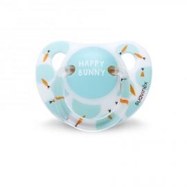 Ciuccio silicone Suavinex 0-6 mesi, ciuccio anatomico Happy Bunny