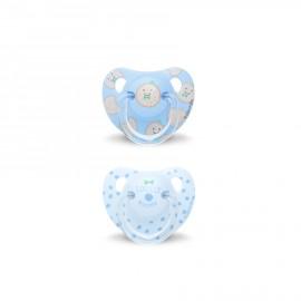 Coppia ciucci silicone Suavinex 6-18 mesi, ciuccio anatomico bimbo