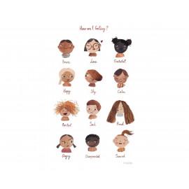Poster delle emozioni mushie