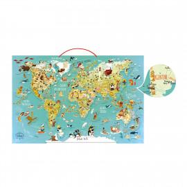 Planisfero magnetico puzzle vilac