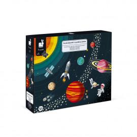 Set 4 puzzle giganti educativi  sul corpo umano