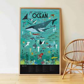 Poster Stickers Poppik ocean