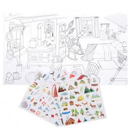 Quaderno dell'eploratore da colorare con adesivi