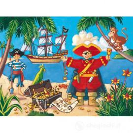 Puzzle djeco Il pirata e il suo tesoro