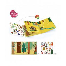 stickers la foresta magica djeco