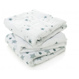 Mussole di cotone aden and anais 3 pezzi 70x70 twinkle