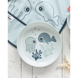 Piatto done by deer Sea Friends blu