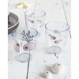 Set 3 mini bicchieri done by deer sea friends rosa