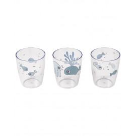 Set 3 mini bicchieri done by deer sea friends blu