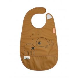 Bavaglino impermeabile con tasca  done by deer sea friends mostarda