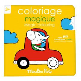 """Album da colorare co in numeri  """"magico"""" moulin roty"""