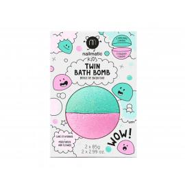 Bomba da bagno nailmatic 2 in 1 verde e rosa