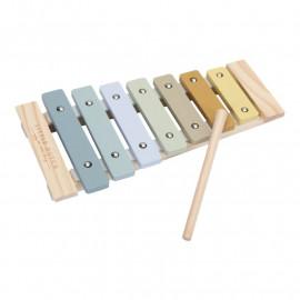 Xilofono little dutch blu legno