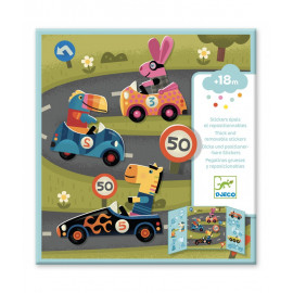 Stickers riposizionabili le auto djeco