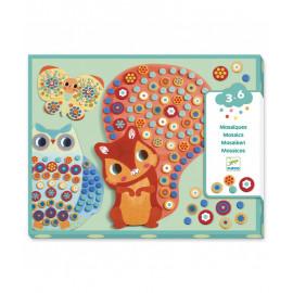 Mosaico animali con stickers mousse