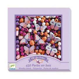 Perle in legno djeco farfalle 450 pz