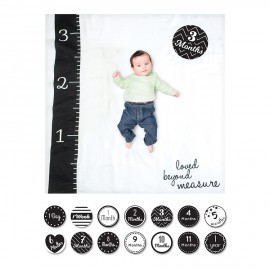 kit copertina mussola di cotone+14 cards loved beyond measure- swaddle lulujo baby
