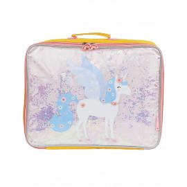 Valigetta glitter unicorno
