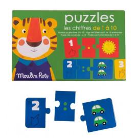 Puzzle dei numeri da 1 a 10 moulin roty