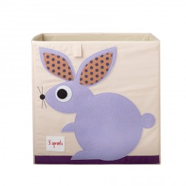 Contenitore portaoggetti 3sprouts coniglio in tessuto organizzazione casa