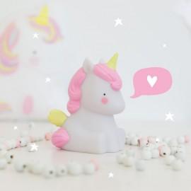 Lampada notturna Unicorno A Little Lovely Company Poppykidshop